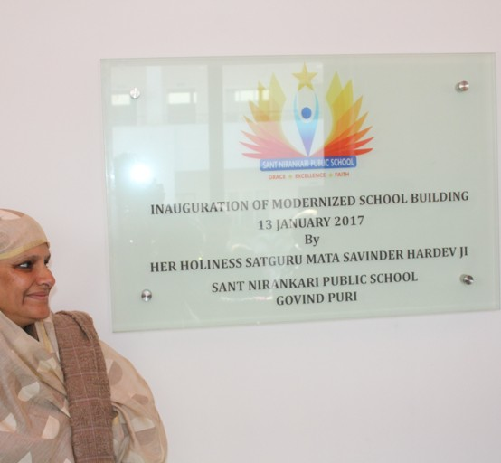 SATGURU MATA JI INAUGURATES GOVINDPURI SCHOOL BUILDING