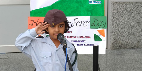 86th  Indian Air Force Day Celebrated by SNPS, Govindpuri