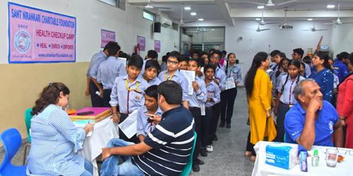 Health Checkup Camp organized by Sant Nirankari Charitable Foundation